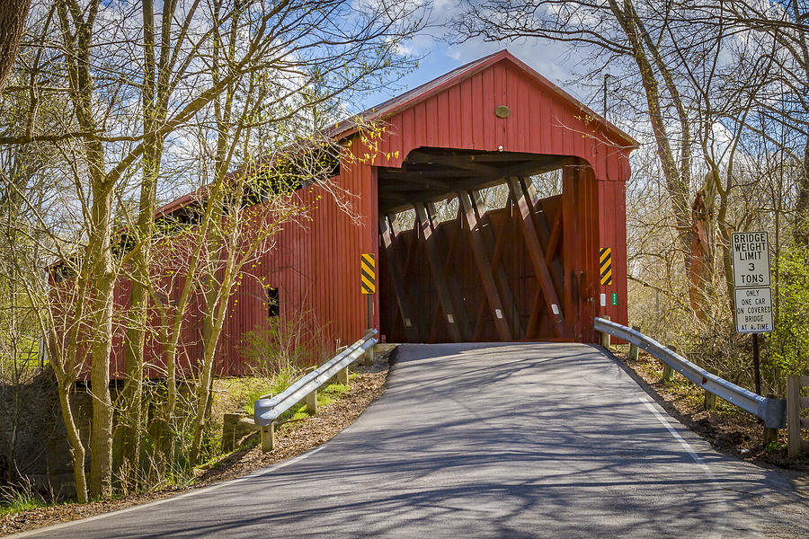 America Photograph - Stonelick Covered Bridge by Jack R Perry