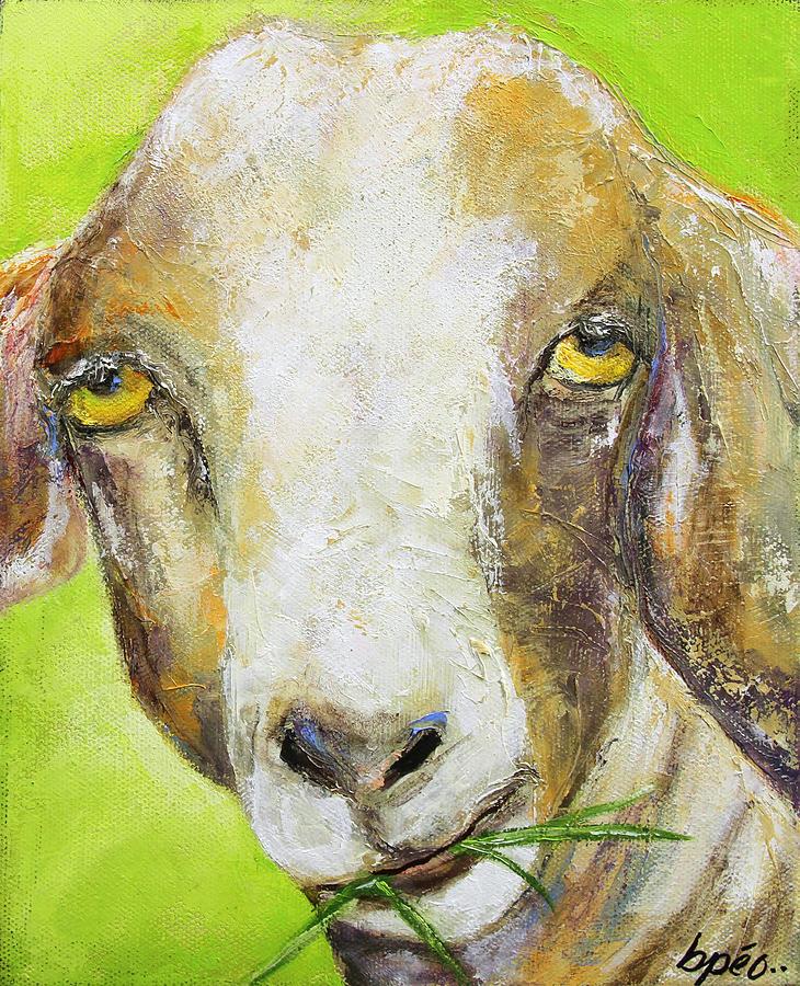 Goat Painting - Stoner by Brenda Peo