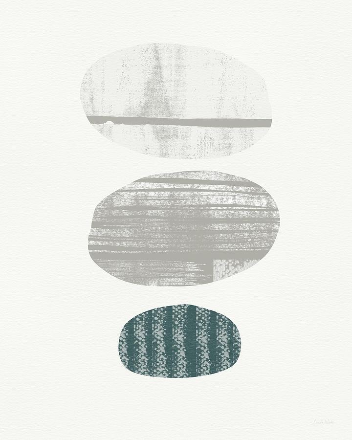 Modern Painting - Stones 3- Art By Linda Woods by Linda Woods