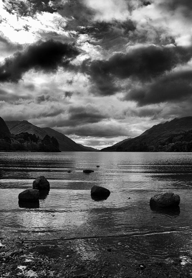 Mono Photograph - Stones by Adrian Pym