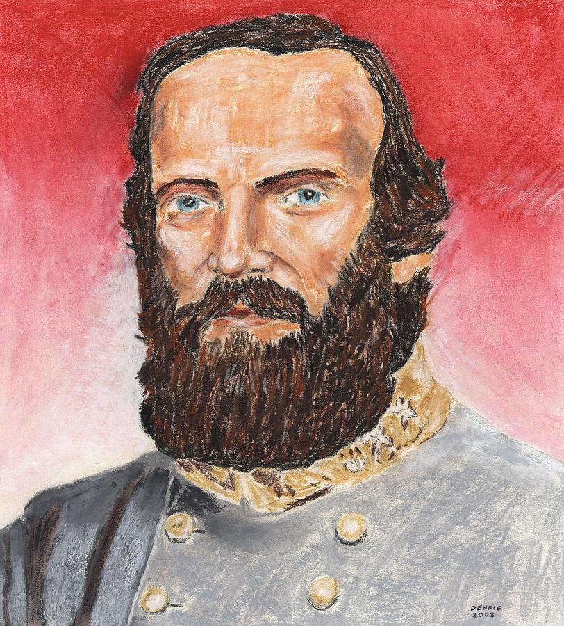 Military Pastel - Stonewall Jackson by Dennis Larson