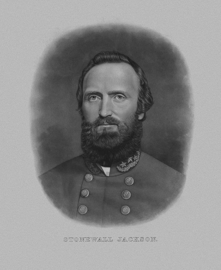 Stonewall Jackson Drawing - Stonewall Jackson by War Is Hell Store