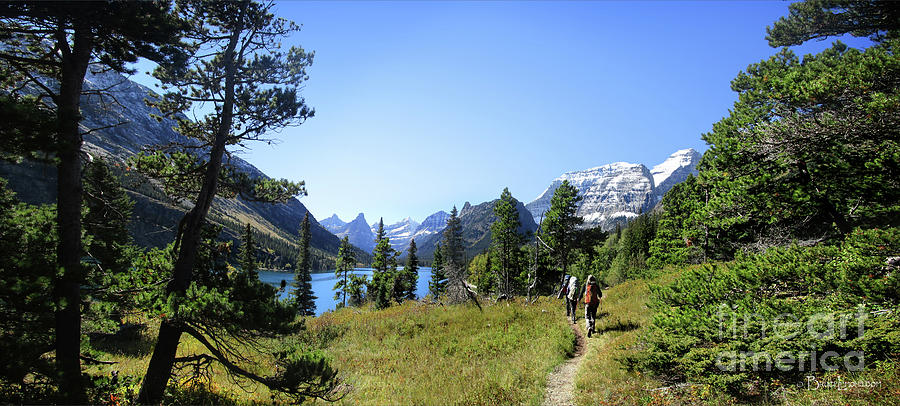 Glacier National Park Photograph - Stoney Indian Pass Trail Around Cosley Lake - Glacier National Park by Bruce Lemons