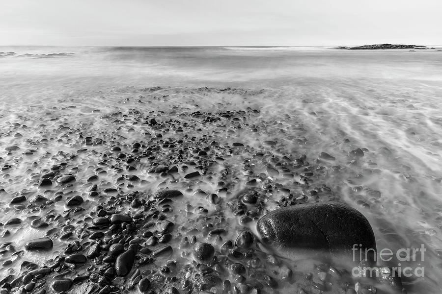 Ocean Photograph - Stony Beach by Masako Metz