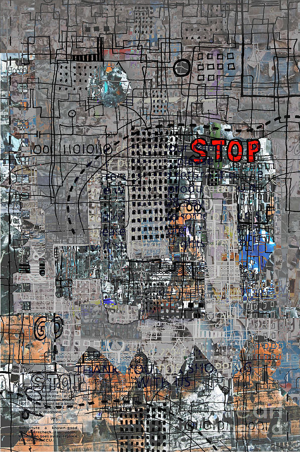 City Digital Art - Stop Again by Andy  Mercer