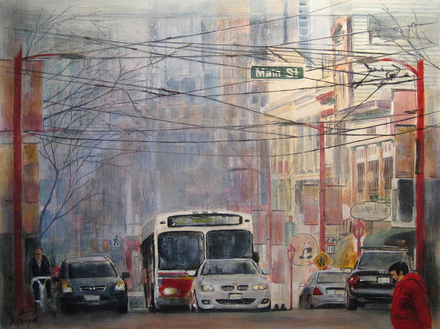 Bus Painting - Stop Light by Victoria Heryet