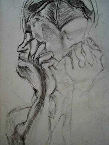 Sadness Drawing - Stop Pain by Nancy  Caccioppo