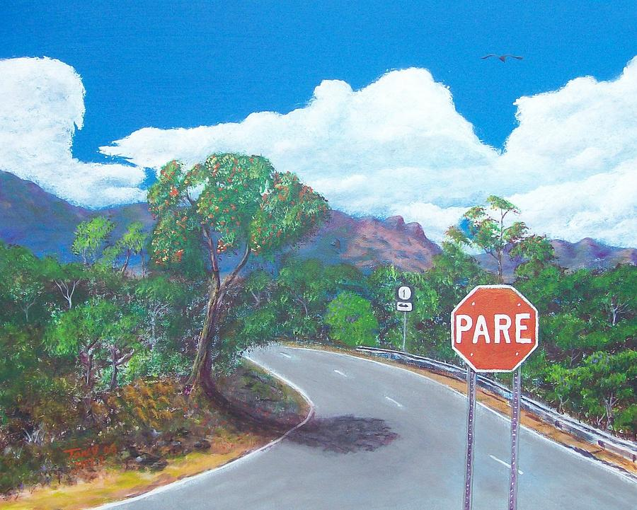 Landscape Painting - Stop Sign by Tony Rodriguez