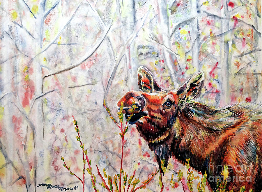Wildlife Painting - Stop To Smell The Weeds by Tracy Rose Moyers