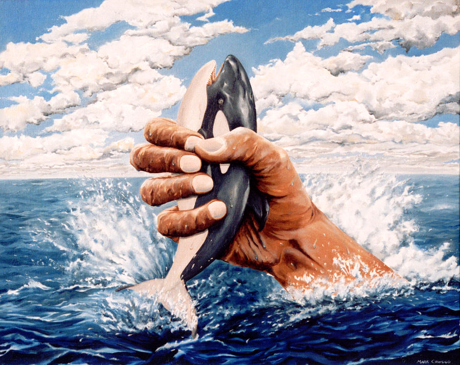 Surreal Painting - Stop Whaling by Mark Cawood