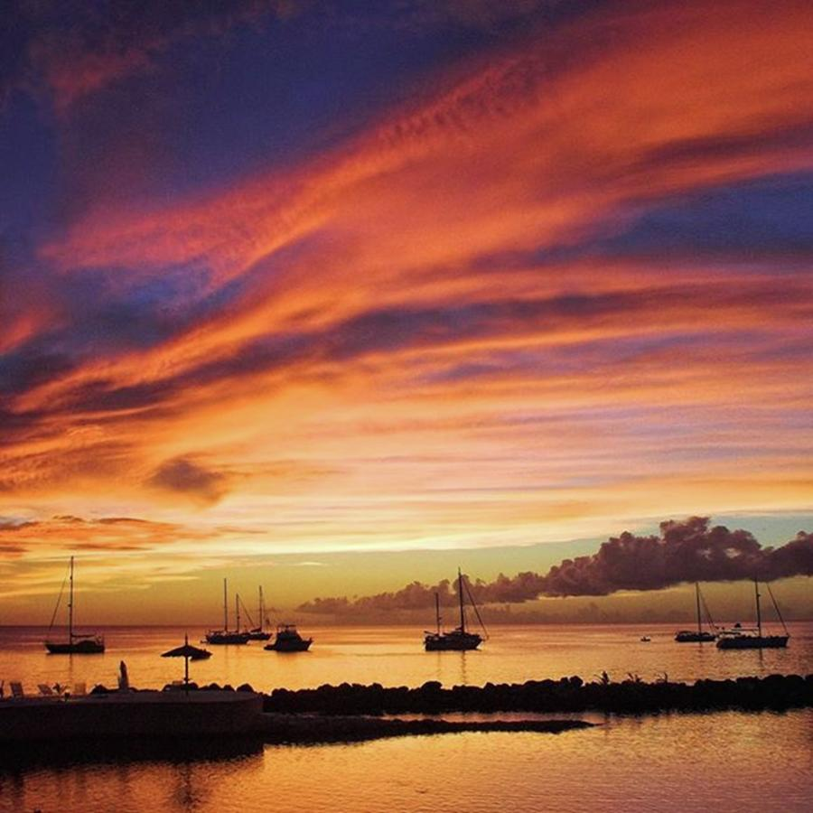 Nature Photograph - Store Bay, Tobago At Sunset #view by John Edwards