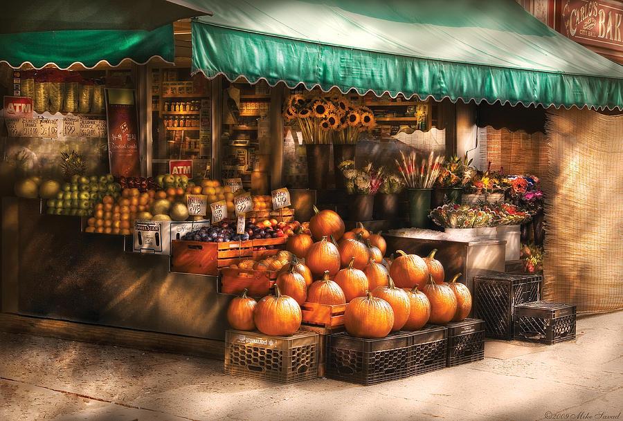 Hoboken Photograph - Store - Hoboken Nj - The Fruit Market by Mike Savad