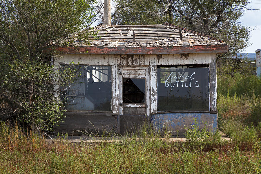 Route 66 Photograph - Store Ruins, Newkirk, New Mexico by Rick Pisio