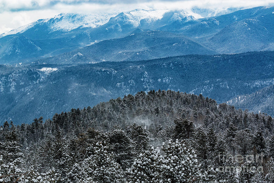 Storm And Blowing Snow On Pikes Peak Colorado Photograph