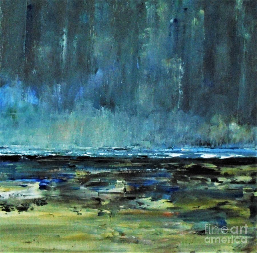 Storm Painting - Storm At Sea II by Angela Cartner