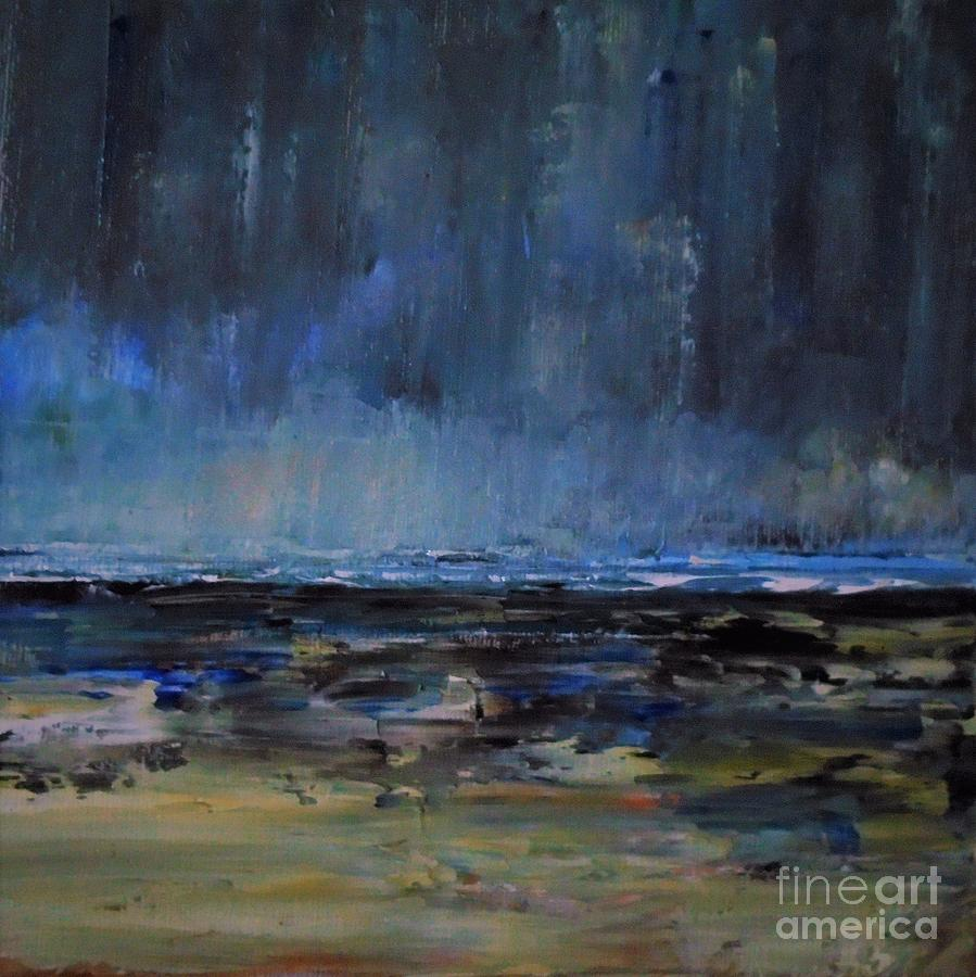 Storm Painting - Storm At Sea IIi by Angela Cartner