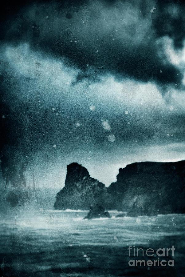 Cornwall Photograph - Storm At Sea In Cornwall, England by A Cappellari
