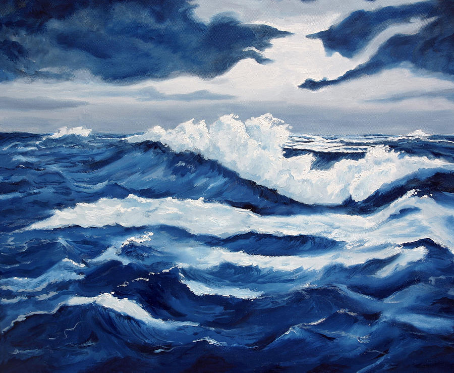 Oil Paintings Painting - Storm At Sea by Lorraine Foster