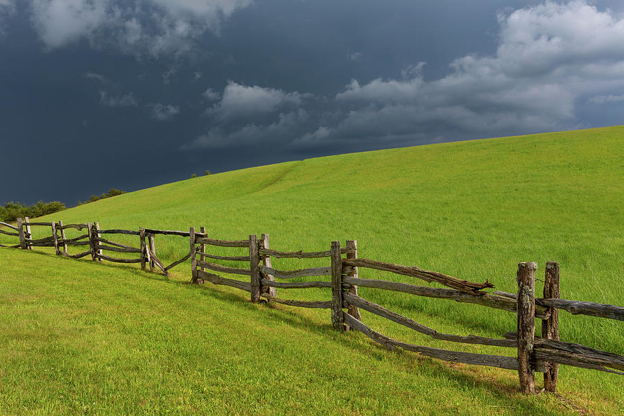 Blue Ridge Parkway Photograph - Storm at The Lump by Jim Neal