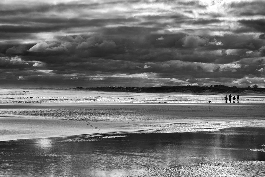 Mono Photograph - Storm Beach by Adrian Pym