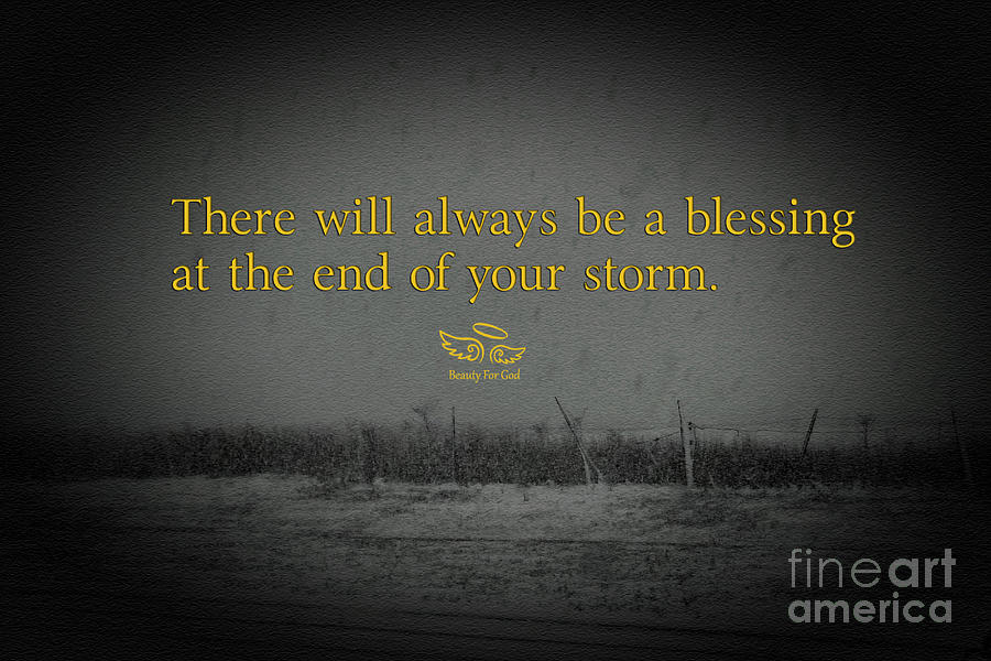 Blessings Photograph - Storm Blessings by Beauty For God