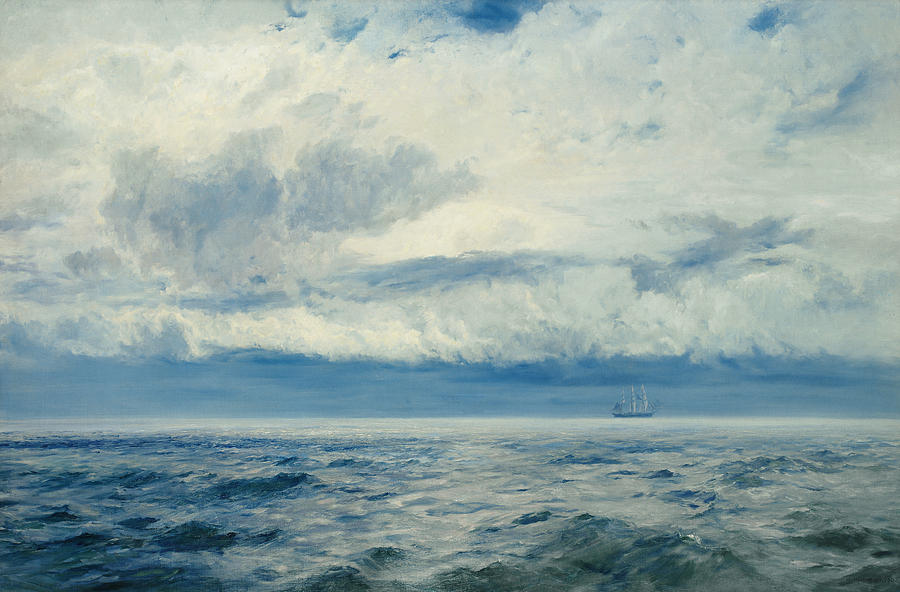 Storm Painting - Storm Brewing by Henry Moore