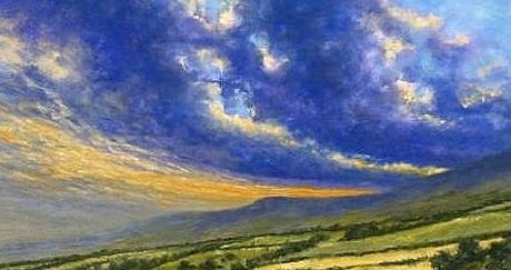 Painting Painting - Storm Brewing In Donegal by Jim Gola