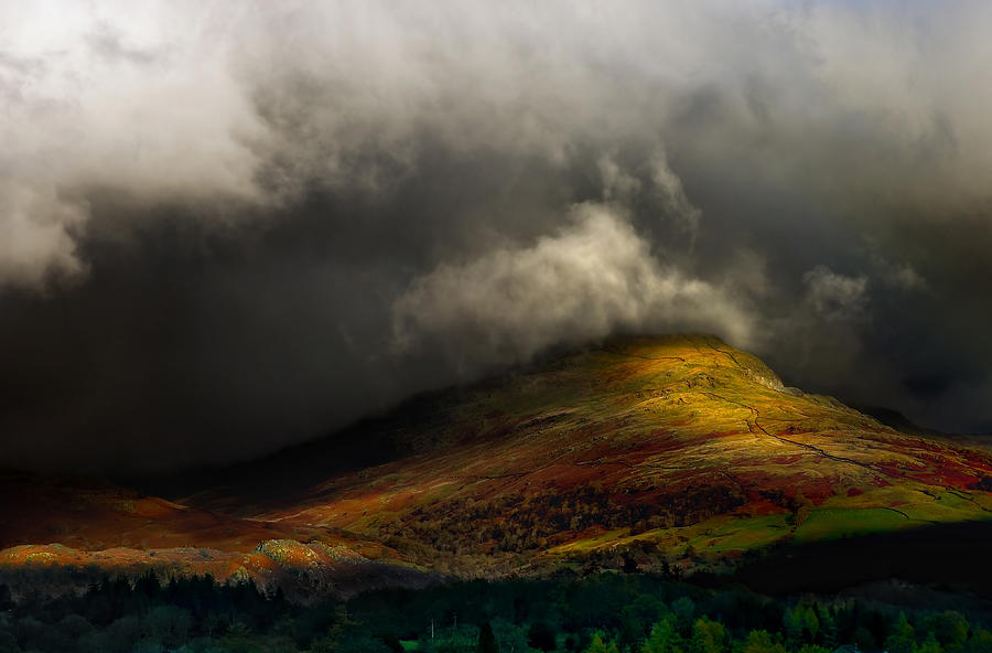 Cumbria Photograph - Storm Brewing Over Hawkshead by Meirion Matthias
