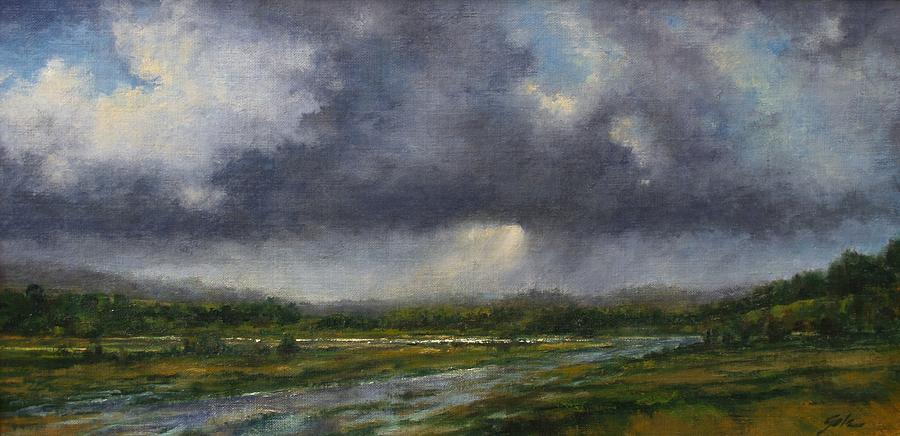 Painting Painting - Storm Brewing Over The Refuge by Jim Gola