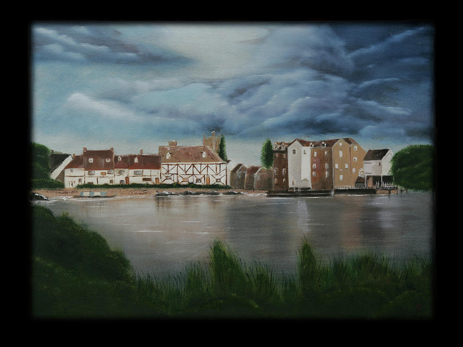 Town Painting - Storm Brewing by Robin Lee