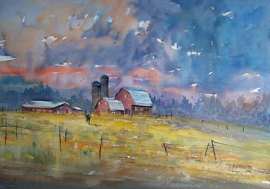 Watercolor Painting - Storm Brewing by Ryan Radke