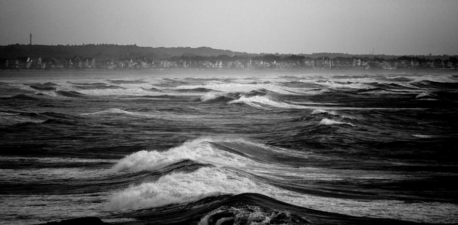 Ocean Photograph - Storm Brewing by Sarah Jean Sylvester