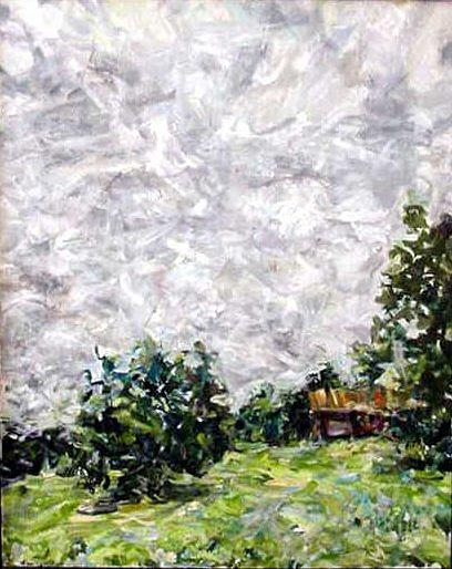 Landscape Painting - Storm by Caroline Krieger Comings