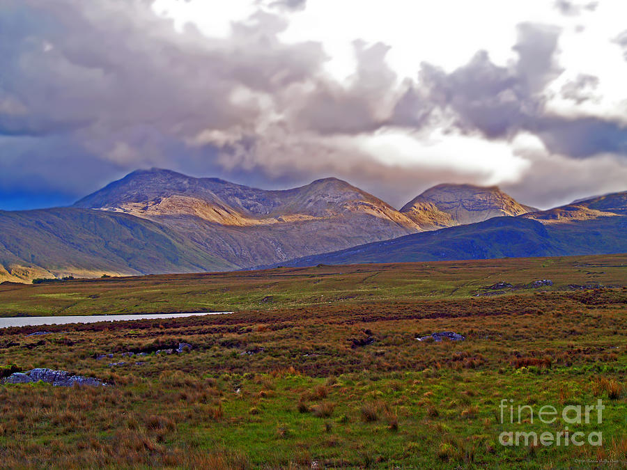 Landscape Photograph - Storm Clouds Ahead In Connemara by Patricia Griffin Brett