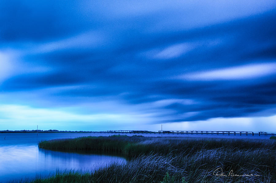 Storm Clouds At New Inlet 7015 Photograph