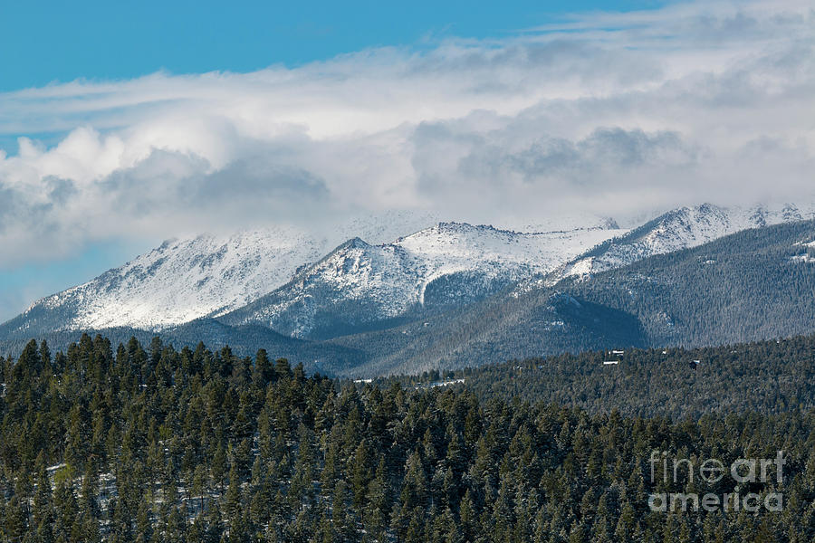 Storm Clouds Blanketing Pikes Peak Photograph