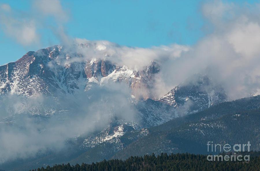 Storm Clouds Float Past Pikes Peak Photograph