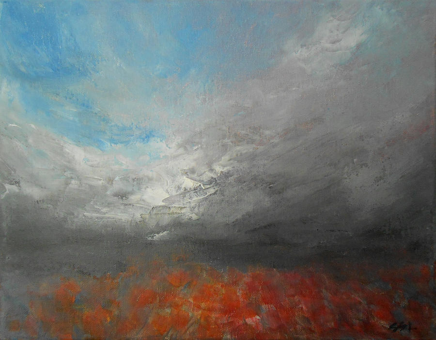 Storm Clouds Painting By Jane See