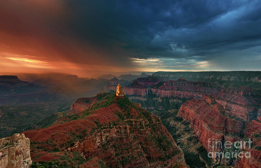 storm clouds north rim grand canyon arizona by Dave Welling