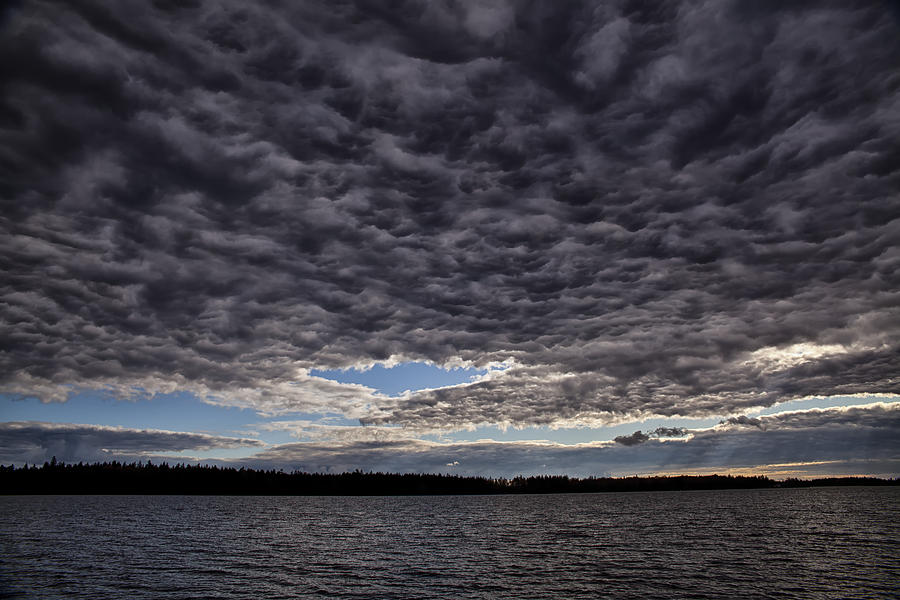 Storm Clouds Photograph - Storm Clouds Over Long Lake by Irwin Barrett
