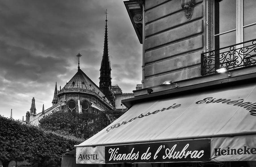 Black And White Photograph - Storm Clouds Over Paris by Mick Burkey