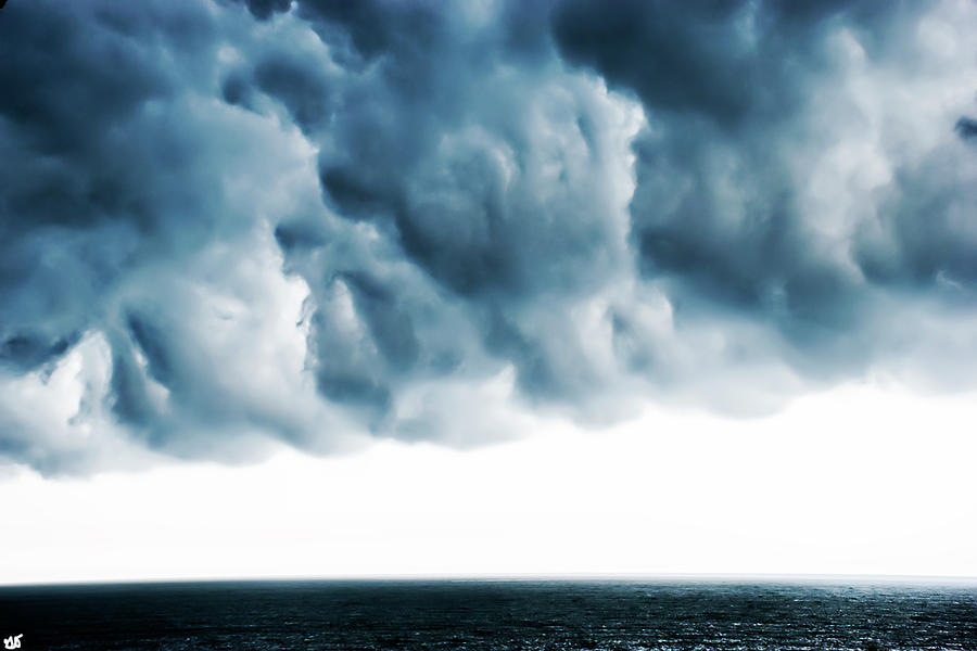 Storm Clouds over the Atlantic Ocean by Gina O'Brien