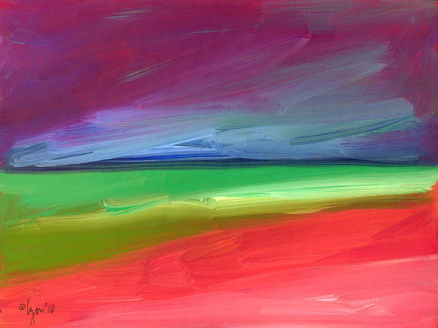 Light Painting - Storm Coming Over Lanikai by Angela Treat Lyon