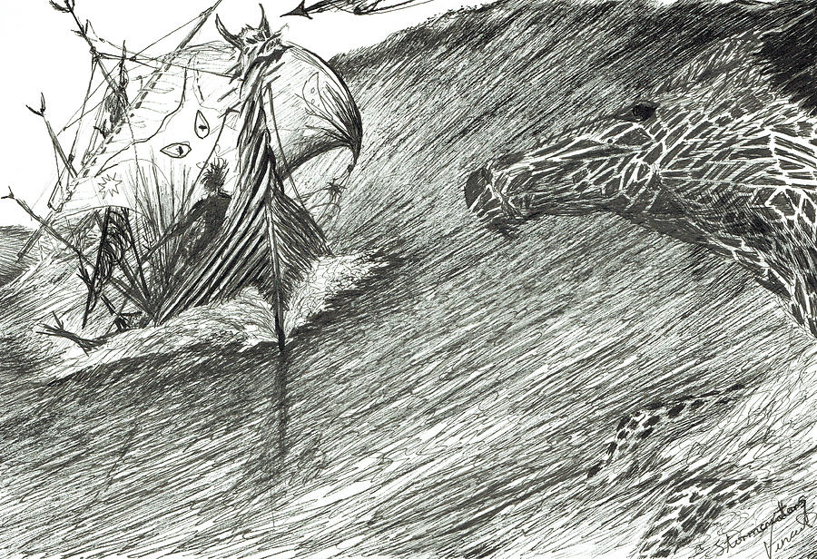 Storm Creator Atlantic Drawing by Vincent Alexander Booth