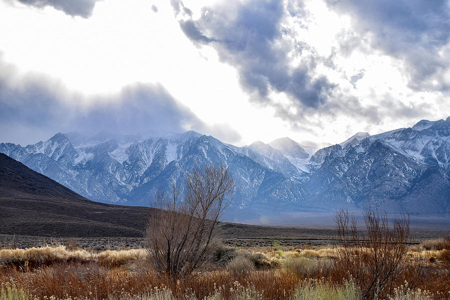 Sierras Photograph - Storm Descending From The Sierras by Gloria Moeller