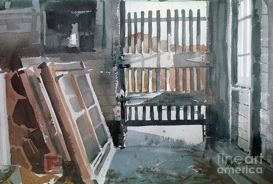 Plein Air Painting - Storm Doors by Donald Maier