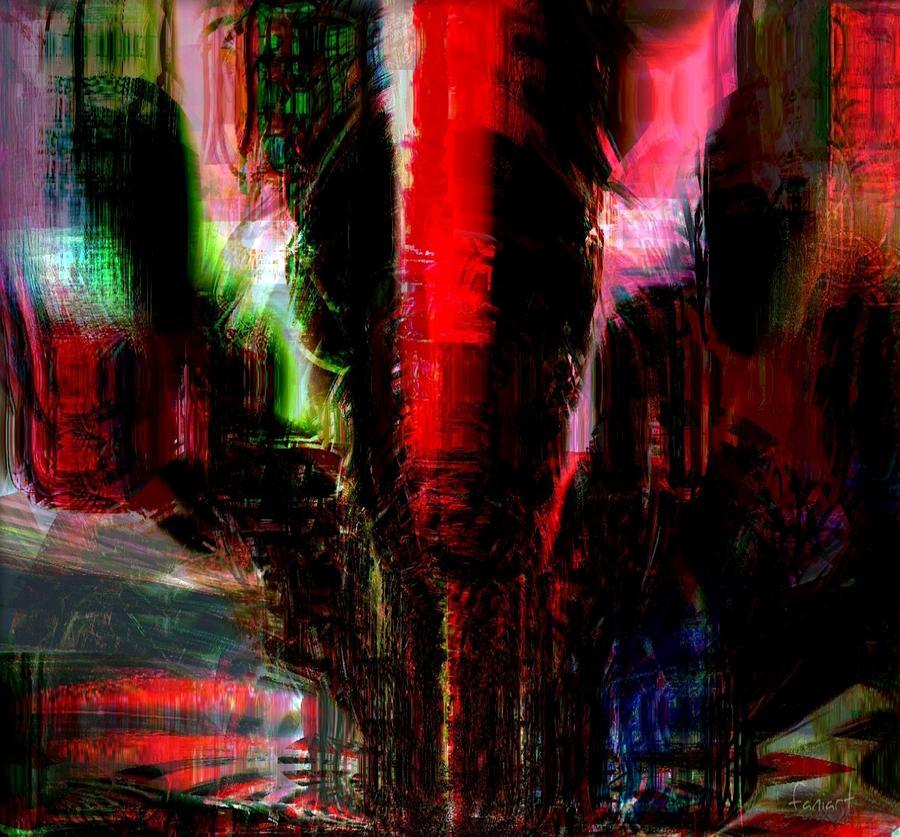 Fania Simon Painting - Storm by Fania Simon