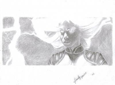 Storm From Xmen Drawing by Frank haro