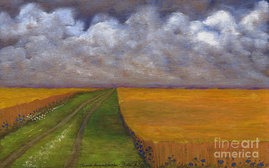 Rural Life Painting - Storm Is Coming by Anna Folkartanna Maciejewska-Dyba