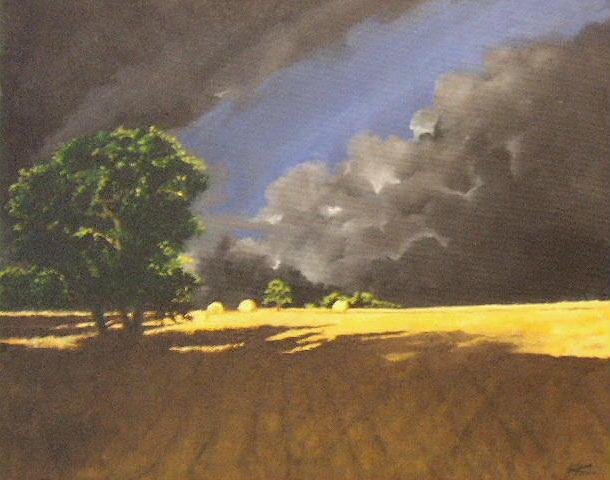 Landscapes Painting - Storm by Jane  Simpson